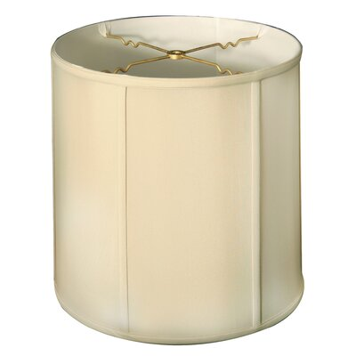 Regal 15 Silk/Shantung Drum Lamp Shade Color: Beige