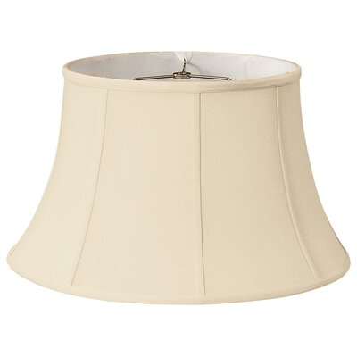 Timeless 17 Silk Bell Lamp Shade Color: Beige/Off White