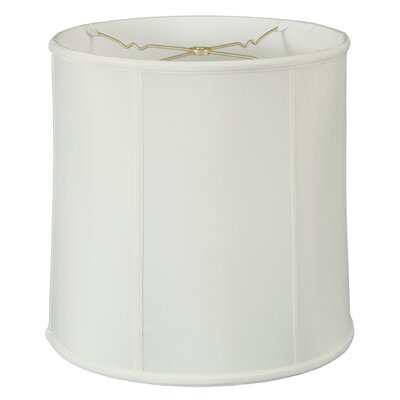 Timeless 14 Silk Drum Lamp Shade Color: White
