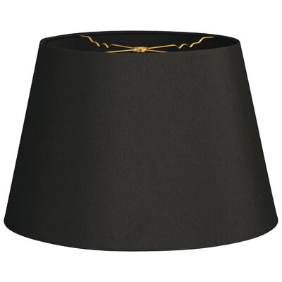 Timeless Tapered 18 Shantung Empire Lamp Shade Color: Black
