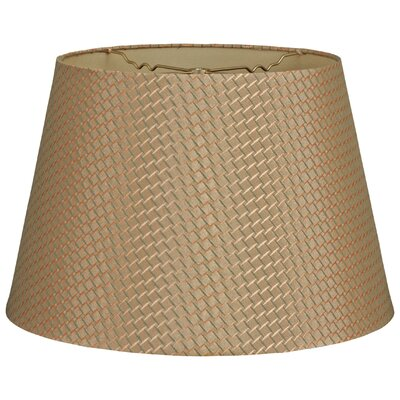 Timeless Tapered 18 Shantung Empire Lamp Shade Color: Green Gold