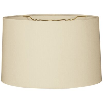 Timeless 12 Shantung Drum Lamp Shade Color: Beige