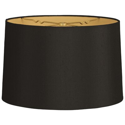 Timeless 14 Shantung Drum Lamp Shade Color: Black