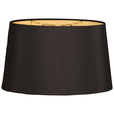 Timeless 12 Shantung Empire Lamp Shade Color: Black