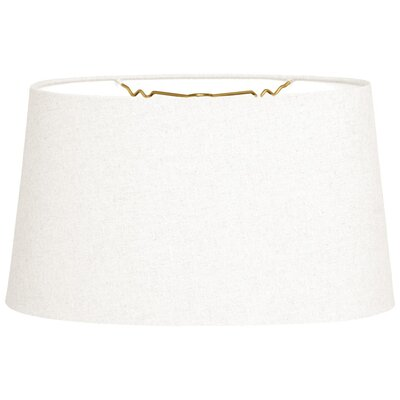 Timeless 10 Linen Shallow Oval Lamp Shade Color: Linen White