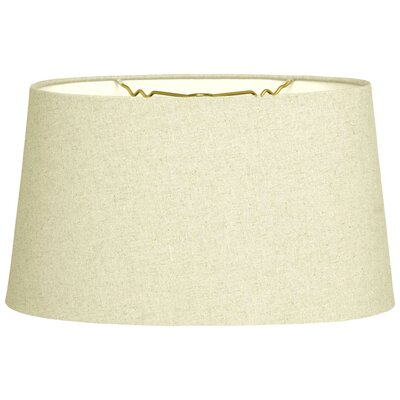 Timeless 10 Linen Shallow Oval Lamp Shade Color: Linen Eggshell