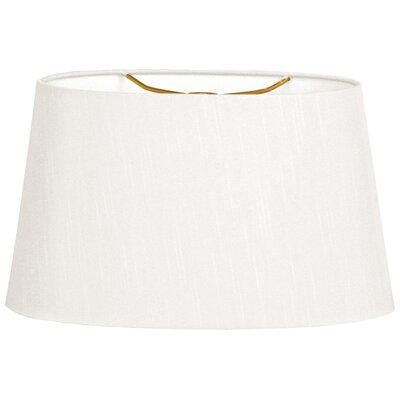 Timeless 10 Linen Shallow Oval Lamp Shade Color: White