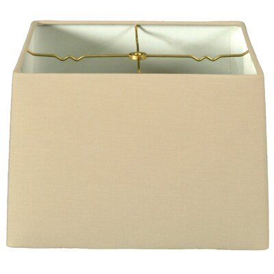 Timeless 14 Shantung Square Lamp Shade Color: Linen Beige