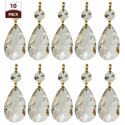 Chandelier Replacement Crystal Prism Icicle U-Drop Size: One Bead