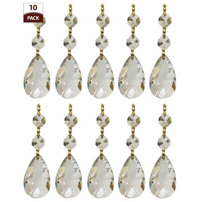 Chandelier Replacement Crystal Prism Icicle U-Drop Size: Two Bead