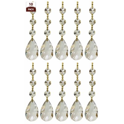 Chandelier Replacement Crystal Prism Icicle U-Drop Size: Three Bead