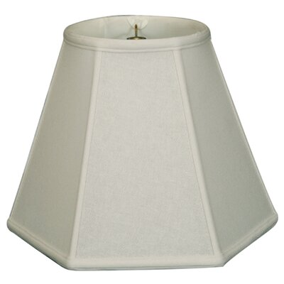 Timeless Hexagon 12 Linen Empire Lamp Shade Color: White
