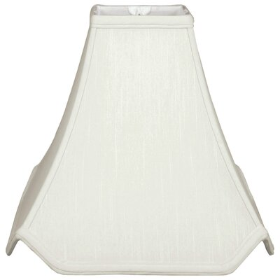 Timeless Pagoda 12 Silk Novelty Lamp Shade Color: White/Off White