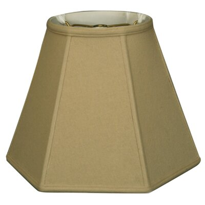 Timeless Hexagon 12 Linen Empire Lamp Shade Color: Beige