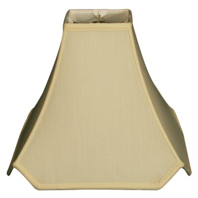 Timeless Pagoda 10 Silk Novelty Lamp Shade Color: Eggshell/Off White