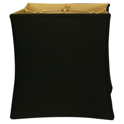 Timeless 13 Silk Novelty Lamp Shade Color: Black