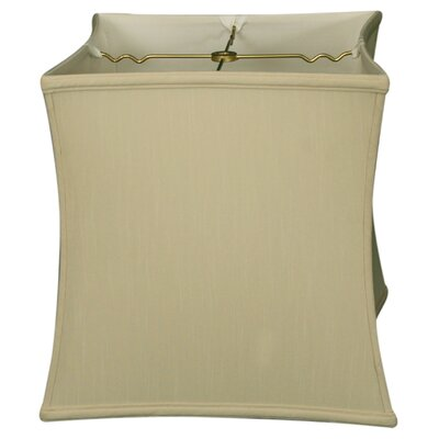 Timeless 11 Silk Novelty Lamp Shade Color: Beige/Gold