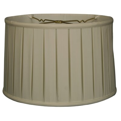 Timeless 10 Silk Drum Lamp Shade Color: White/Off White
