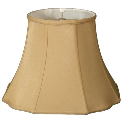 Timeless Flare Bottom Scallop 18 Silk Bell Lamp Shade Color: Antique Gold