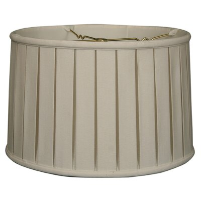 Timeless 18 Linen Drum Lamp Shade Color: White