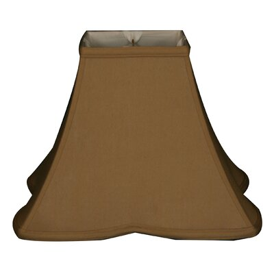Timeless 12 Silk Bell Lamp Shade Color: Antique Gold/Off White