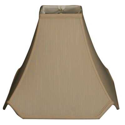 Timeless 8 Silk Novelty Lamp Shade Color: Beige/Gold