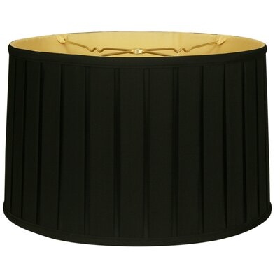 Timeless 18 Silk Drum Lamp Shade Color: Black/Off White