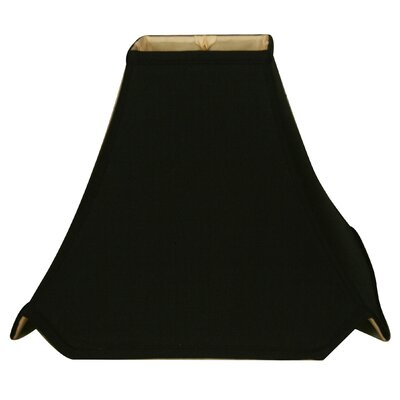 Timeless Pagoda 14 Silk Novelty Lamp Shade Color: Black Gold/Off White