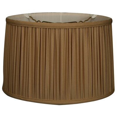 Timeless 14 Silk Drum Lamp Shade Color: Antique Gold/Off White