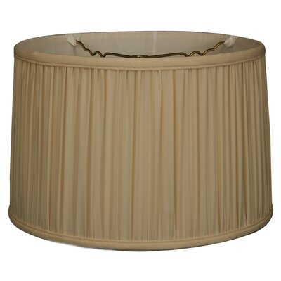 Timeless 14 Silk Drum Lamp Shade Color: Eggshell/Off White