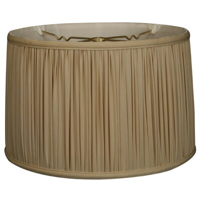 Timeless 12 Silk Drum Lamp Shade Color: Beige/Gold