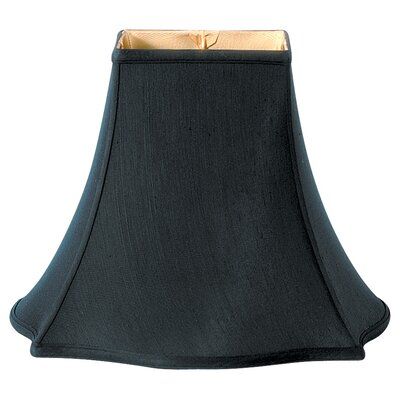 Timeless 18 Silk Bell Lamp Shade Color: Black/Off White