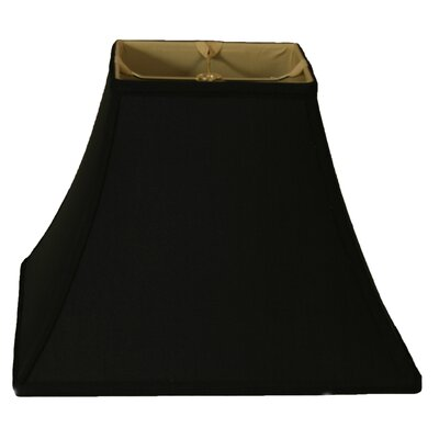 Timeless 12 Silk Bell Lamp Shade Color: Black Gold/Off White