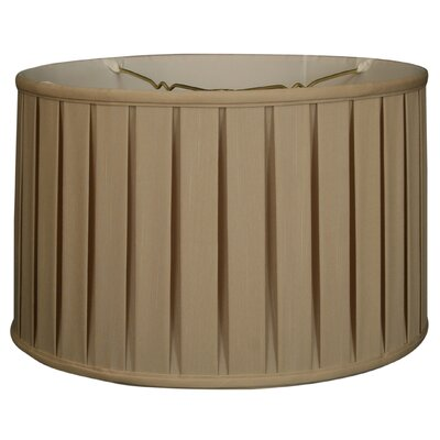 Timeless 18 Silk Drum Lamp Shade Color: Beige/Gold