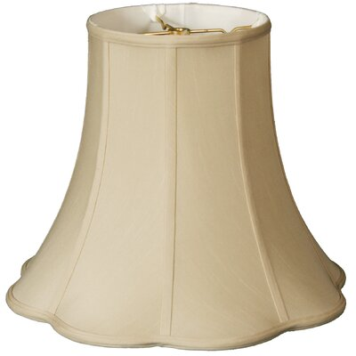 Timeless Scallop 13 Silk Bell Lamp Shade Color: Beige