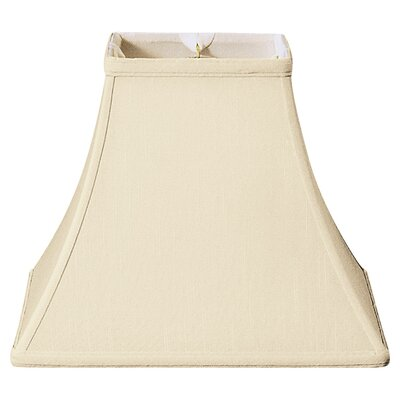 12 Silk/Shantung Square Bell Lamp Shade Color: Beige