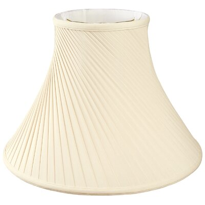Timeless Twisted Pleat 16 Silk Bell Lamp Shade Color: Eggshell/Off White