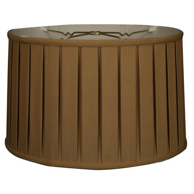 Timeless 18 Silk Drum Lamp Shade Color: Antique Gold/Off White