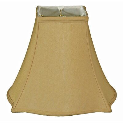 Timeless 18 Silk Bell Lamp Shade Color: Antique Gold/Off White