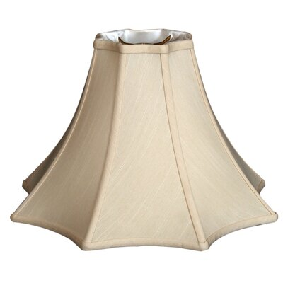 Timeless 14 Silk Bell Lamp Shade Color: Beige