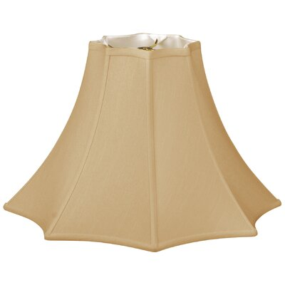 Timeless 18 Silk Bell Lamp Shade Color: Antique Gold