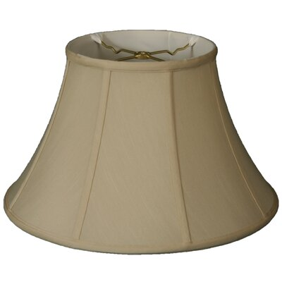 Timeless 13 Silk Bell Lamp Shade Color: Beige/Off White