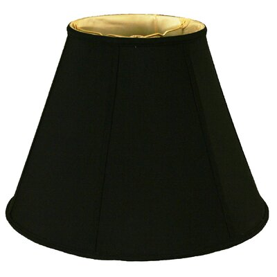 Timeless 10 Silk Empire Lamp Shade Color: Black/Off White