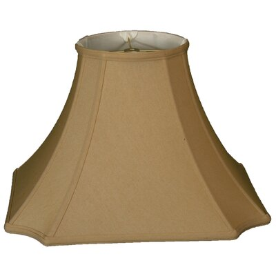 Timeless 11.5 Silk Bell Lamp Shade Color: Antique Gold/Off White