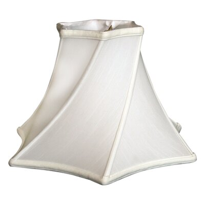 Timeless 13.5 Silk Bell Lamp Shade Color: White