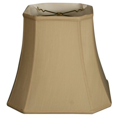 Timeless 17 Silk Bell Lamp Shade Color: Beige/Gold