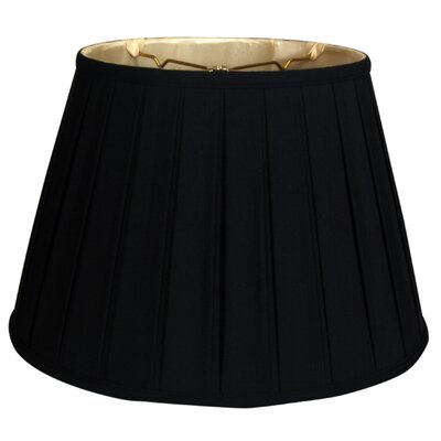 Timeless 19 Silk Empire Lamp Shade Color: Black/Off White