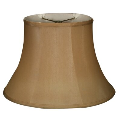 Timeless 16 Silk Bell Lamp Shade Color: Antique Gold/Off White