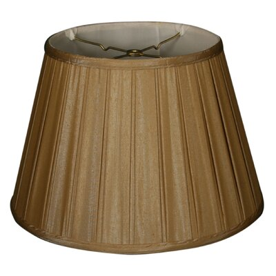 Timeless 14.5 Silk Empire Lamp Shade Color: Antique Gold/Off White
