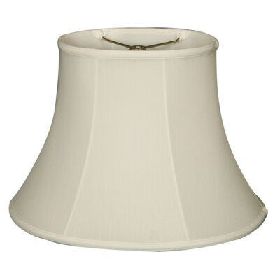 Timeless 16 Silk Bell Lamp Shade Color: White/Off White